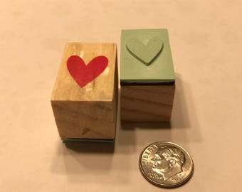 small heart rubber stamp,  1/2 inch (BB4/9)