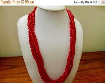 On Sale NAPIER Red Multistrand Plastic Beaded Necklace Item K # 2221