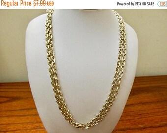 ON SALE Vintage Aluminum Link Chain Necklace Item K # 2557
