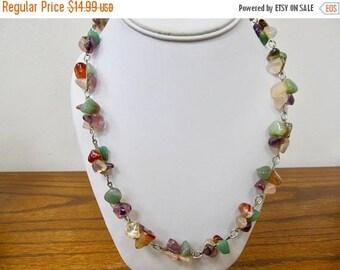 ON SALE Vintage Tumbled Stone Necklace Item K # 2986