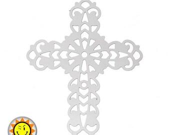 Print 1 metal stainless steel cross charm