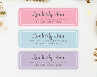 Address Labels / Shabby Chic Personalized Return Address Labels / Custom Address Labels / Address Sticker / Address Label Sticker / Kimberly