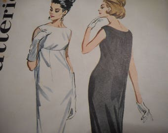 Vintage 1960's Butterick 2966 Boutique Tapered Dress Sewing Pattern Size 14 Bust 34