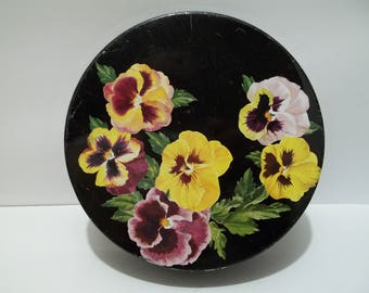Vintage Helen Harrison Candies Company Chicago Pansy