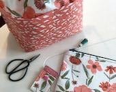 Sale!!!Floral Drawstring Bag Set, Sock Drawstring Bag Set, Small Drawstring Project Bag, Project Bag Set, Drawstring Project Bag Sets, Proje