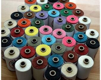 10m (10.93yards) Book Binding Crawford's Irish Waxed linen Thread - Choose your color (s)