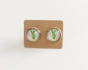Cactus Silver Studs