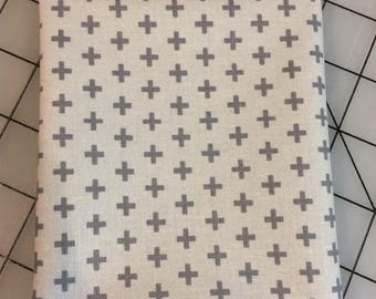Windham Fabrics - FAT QUARTER cut of Meet the Royal Court - Crosses by Jill McDonald - 41637- Gray