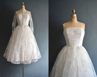 Vittoria / 50s wedding dress / vintage 1950s wedding dress