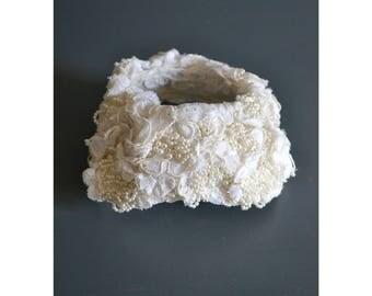 60s wedding headpiece / bridal headpiece