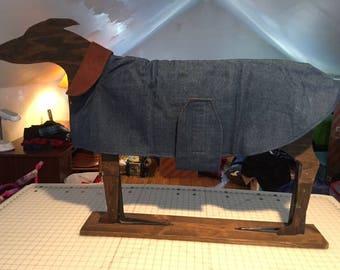 Greyhound Denim coat lined in fleece