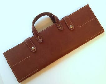 Chef Leather Bag (fits 8 knives)