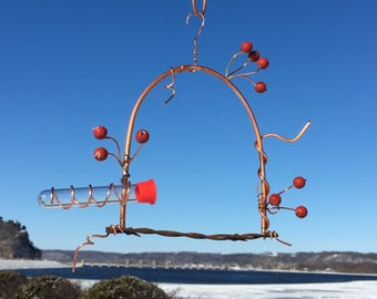 Hummingbird feeder swing