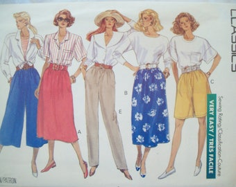 Culottes, Skirt, Shorts, & Pants 1980s Butterick Classics Fast Easy Pattern Uncut Sizes XS-Med