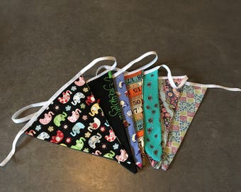 Double sided patterned bunting