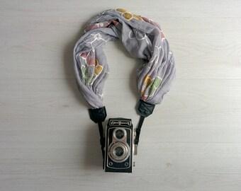 Scarf camera strap Camera scarf Fabric camera strap Floral scarf camera strap DSRL camera strap Photographer accessories Camera accessories