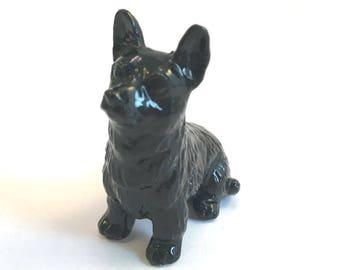 Wade Whimsie: Corgi Figurine - Black Bran Tub Fair Model