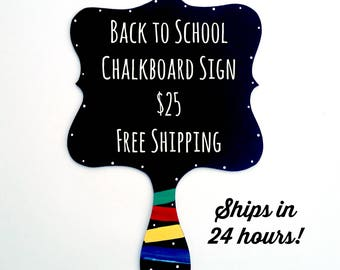 First Day of School Sign / Back to School / Kindergarten Sign / Back to School Chalkboard Sign / First Day of School  | Chalkboard Sign