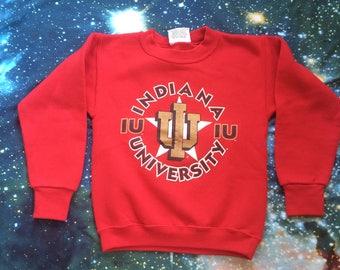 Vintage IU Indiana University Hoosiers Crop Top Sweatshirt