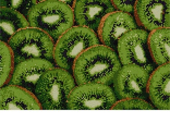 Needlepoint Kit or Canvas: Kiwi Collage