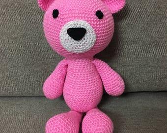 Colourful Cute Bears FINISHED ITEMS Handmade Crochet Cartoon Personalized Teddy Bear