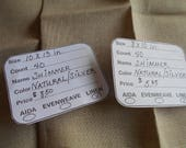 40 ct Linen - Natural/Silver 'Shimmer' linen in various sizes for cross stitch