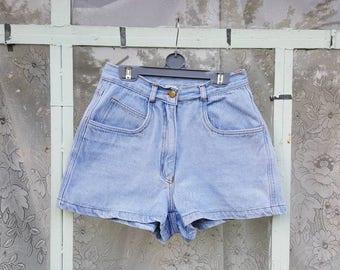High waisted shorts Arizona Jeans Denim Daisy Dukes Vintage denim shorts Waist 26 inches Nr. 28