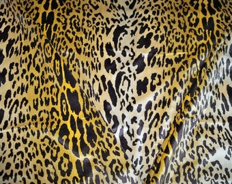 SCALAMANDRE LEOPARDO Leopard Silk VELVET fabric 5 yards Ivory Gold Brown