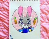 CUSTOM ORDER for Keyonna--Judy Hopps Embroidery