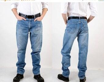 SALE 70s Levis Jeans / Man Levis Jeans / Levi Strauss Jeans / Long Levis Jeans / Orange Tab / Blue Levis Jeans / Hipster Jeans / Vintage Jea