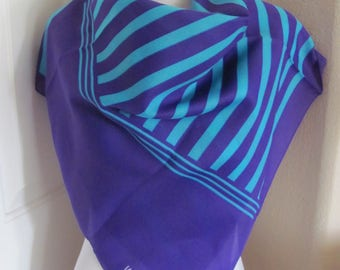 "Scarf Unused Valentina Large Purple Poly Scarf 31"" Square - Affordable Scarves!!!"