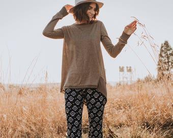 Asymmetrical Sweater in Oat-Brown
