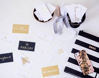 500 Gold Foil Business Cards to AU