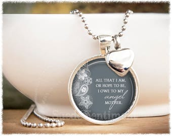 Loss Of Mother • Cremation Jewelry • Urn Necklace • All That I Am • Ashes Necklace • Loss of Parent • Mom Remembrance