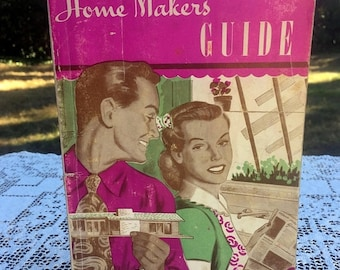 17% OFF SALE 1950's Homemakers Guide For The Bride/ 96 page Booklet /Seattle Mid Century Magazine/Recipes & Homemaking/Mid Century Advertisi
