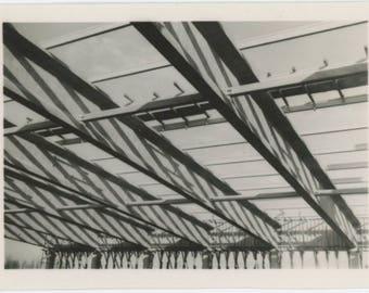 Vintage Snapshot Photo: Steel Beams (77592)