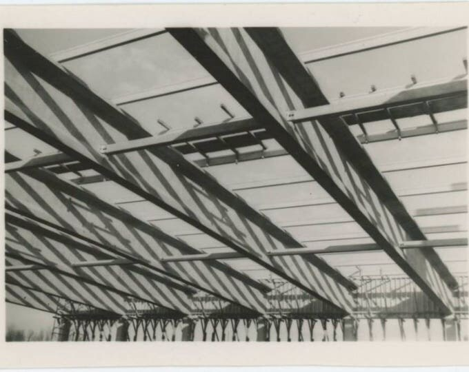 Vintage Snapshot Photo: Steel Beams (77592)