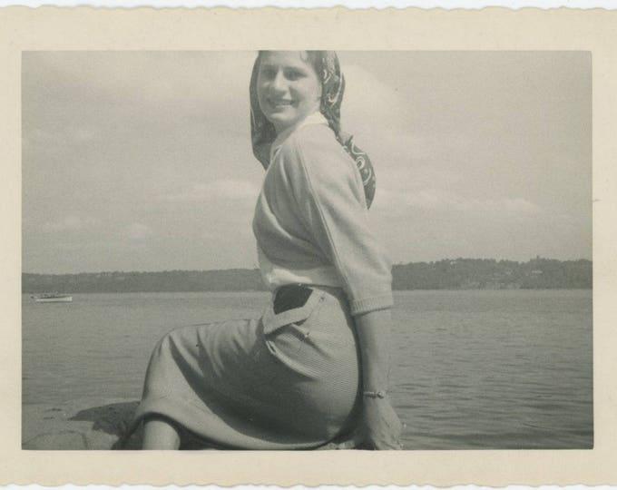 Vintage Snapshot Photo: Mermaid (81636)