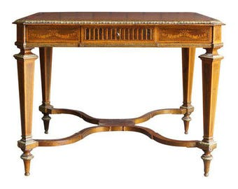 Writing Desk / French Regency Desk Library Table / Antique Table / French  Writing Desk