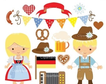 ON SALE INSTANT Download.  Oktoberfest clip art. Co_1. Personal and commercial use.