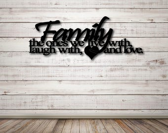 Family Wall Art, Live Laugh Love Sign, Family Sign, Family Sayings, Custom