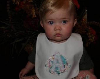Babies and Toddler Applique Winter/Snowman 100% Cotton 2 Ply Bib