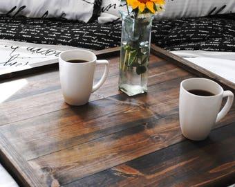 Large Ottoman Tray | Square Ottoman Tray | Coffee Table Tray | Rustic Ottoman Tray | Wood Ottoman Tray | Oversized Ottoman Tray | Farmhouse
