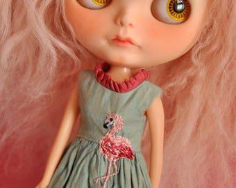 flamingo dress - for Blythe