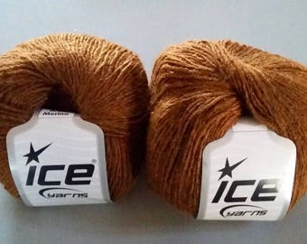 Set of 6 balls of yarn color copper rust