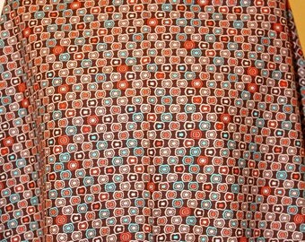 Fabric coupon Brown background with vintage patterns