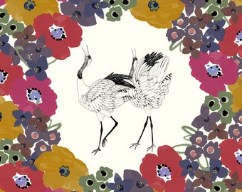 Autumnal Flower Wedding Invitation