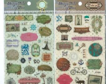 Japanese / Korean Clear Sticker (Pick 1) - Vintage Style