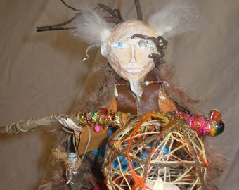 The ancestor. Carving and wood Sofiso and Zabzab (sold)