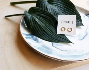 Freyja Earrings   Circle studs